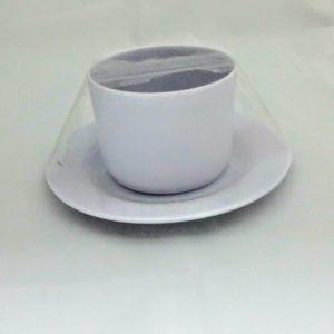 Taza con plato melamina